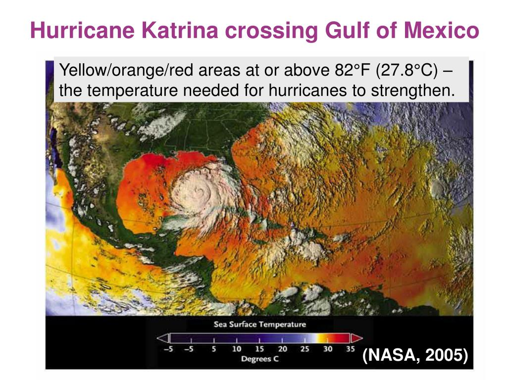 Hurricane Katrina crossing Gulf of Mexico