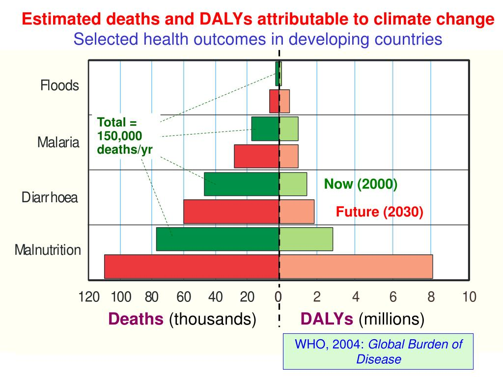 Estimated deaths and DALYs attributable to
