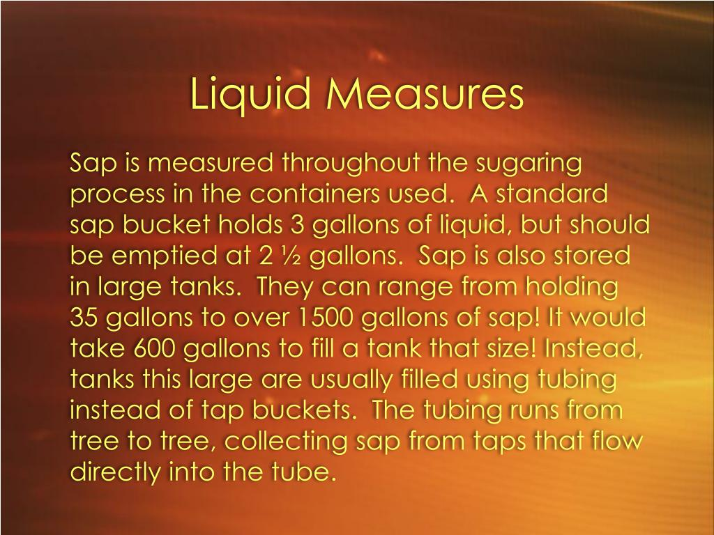 Liquid Measures