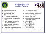 doe elements that are fec partners