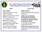 e o 13423 requires purchasing epeat registered electronics