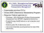 e o 13423 strengthening federal environmental energy and transportation management