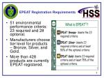 epeat registration requirements