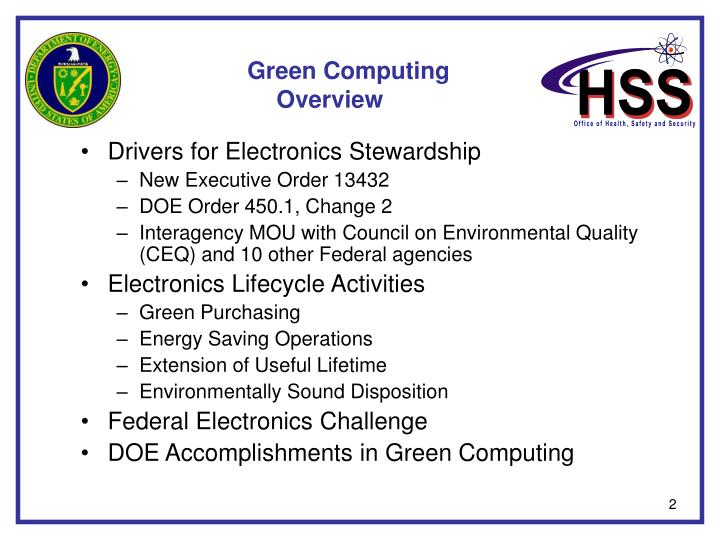 Green computing overview