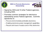 mou to promote electronics stewardship