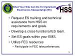 what your site can do to implement electronics stewardship es