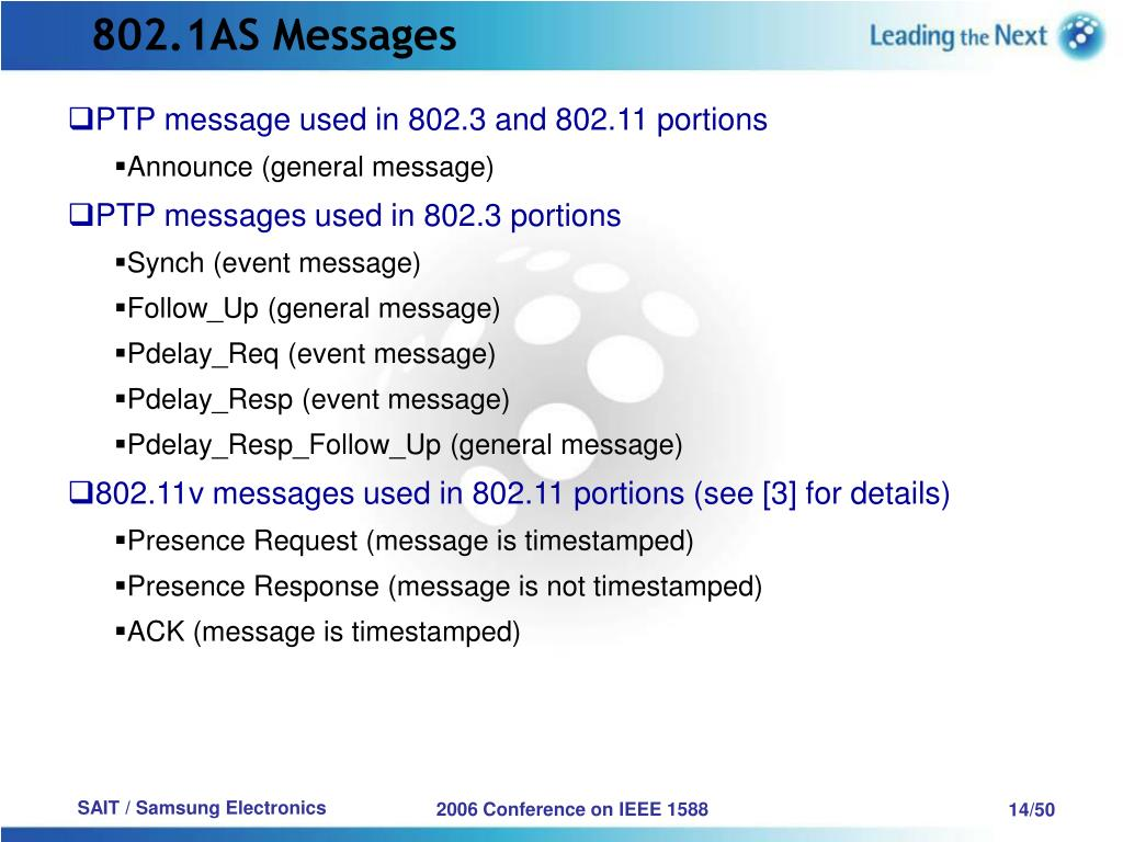 802.1AS Messages