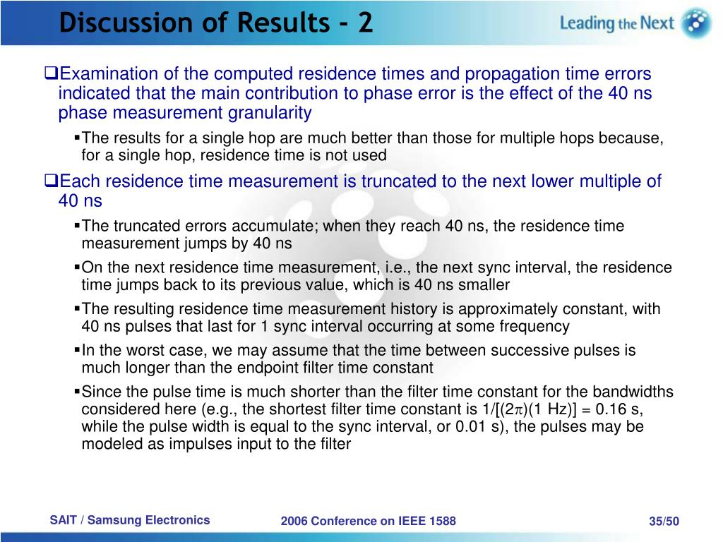 Discussion of Results - 2