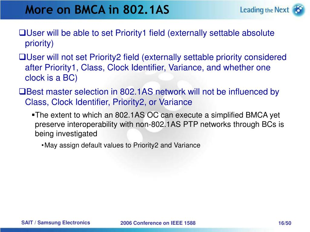 More on BMCA in 802.1AS