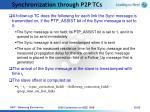 synchronization through p2p tcs20