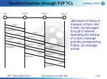 synchronization through p2p tcs21