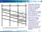 synchronization through p2p tcs22