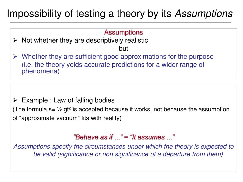 essay testing theory This essay examines the relationship between social theory and social problems,  the  not amendable to falsification, that is, to testing empirically the test of.