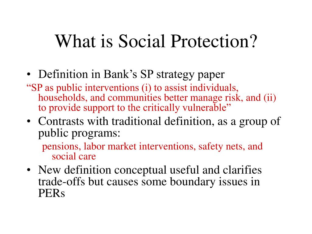 What is Social Protection?