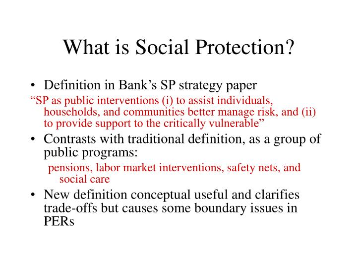 What is social protection