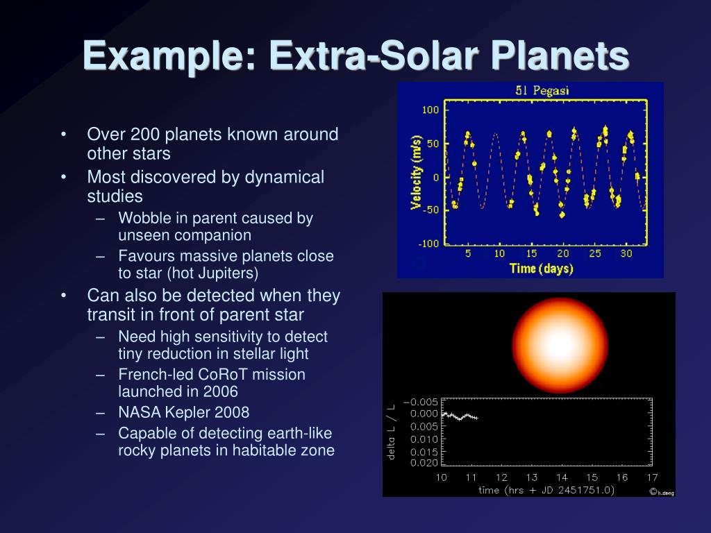 Example: Extra-Solar Planets