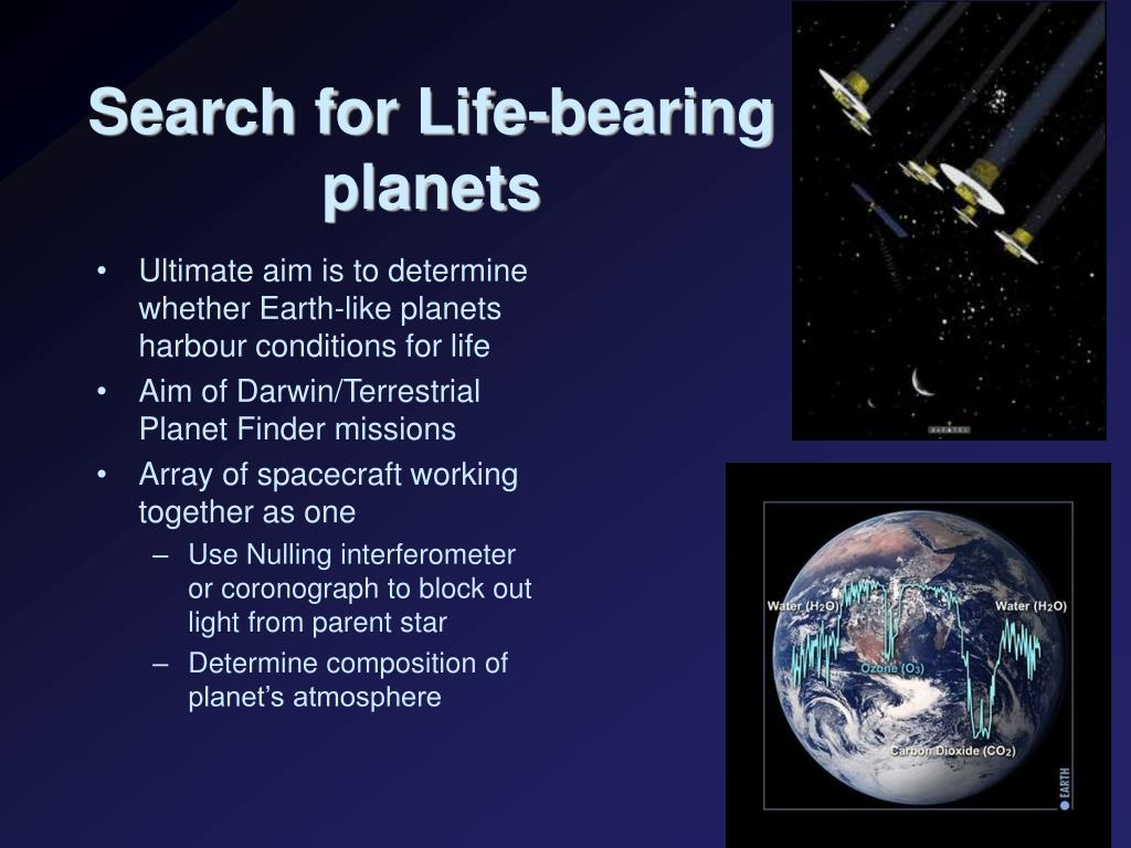 Search for Life-bearing planets