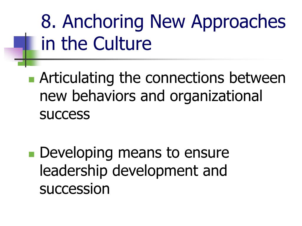 sampoerna guiding coalition and anchoring culture How to get it to accept itil  creating the guiding coalition,  anchoring new approaches in the culture grounds the changes in the culture and makes them stick.