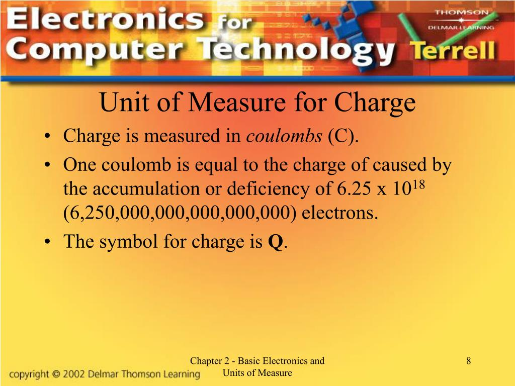 Unit of Measure for Charge