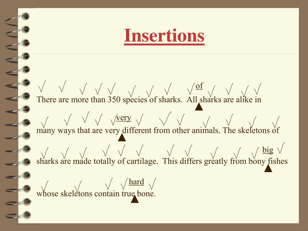 Insertions