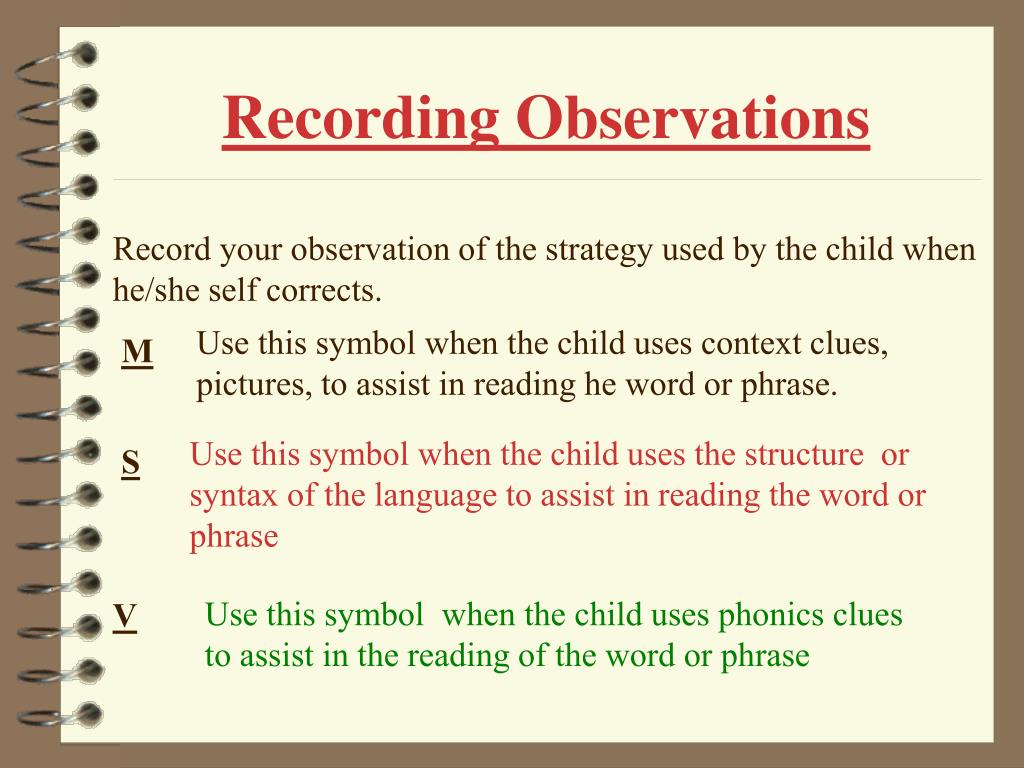 Recording Observations