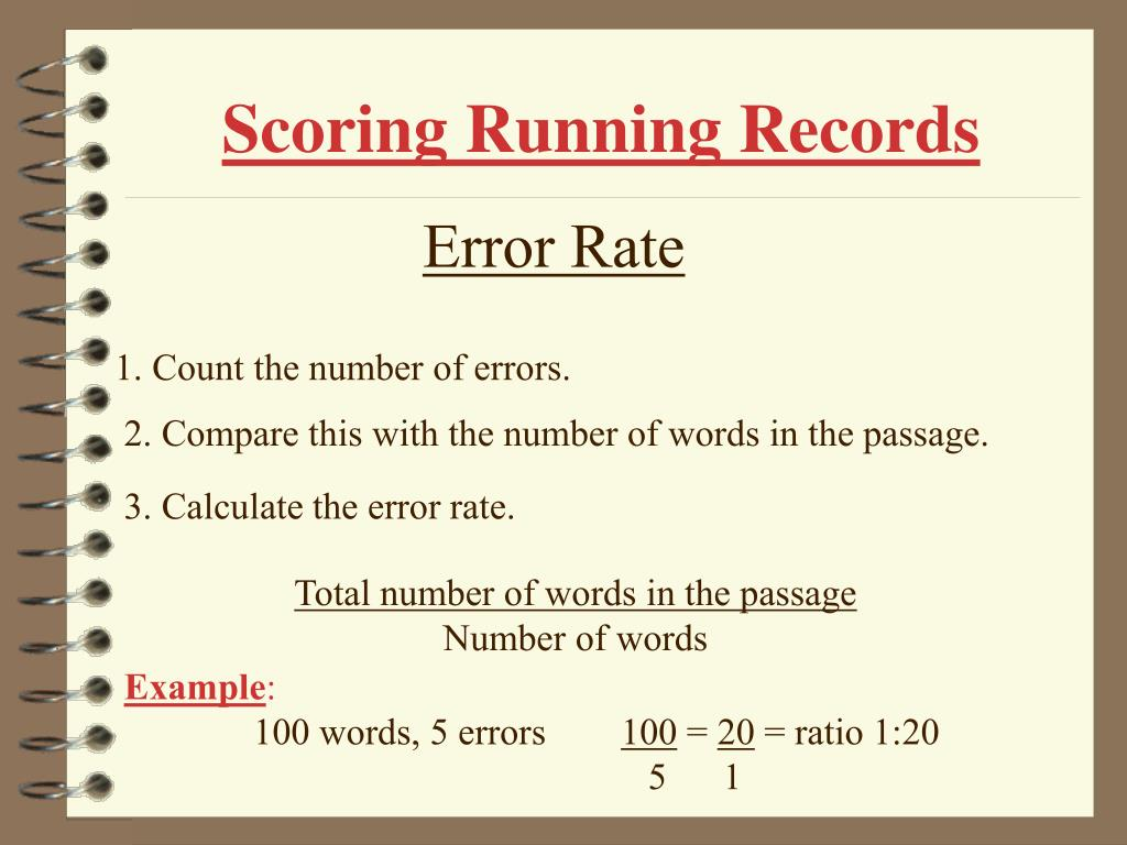 Scoring Running Records