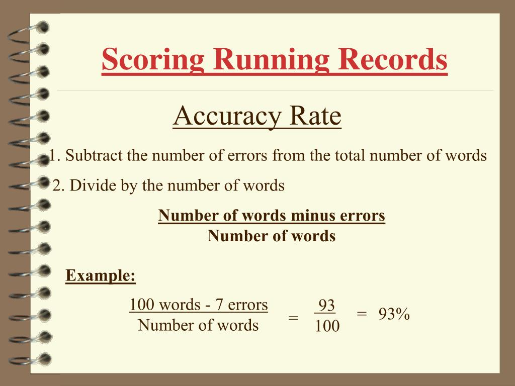 Scoring Running Records