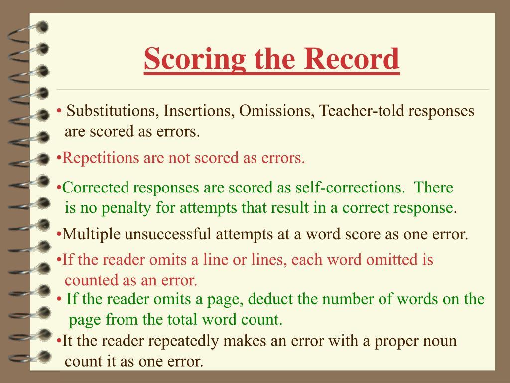 Scoring the Record