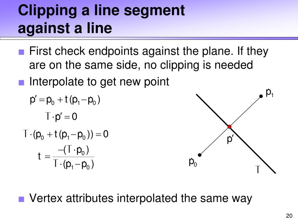 Clipping a line segment
