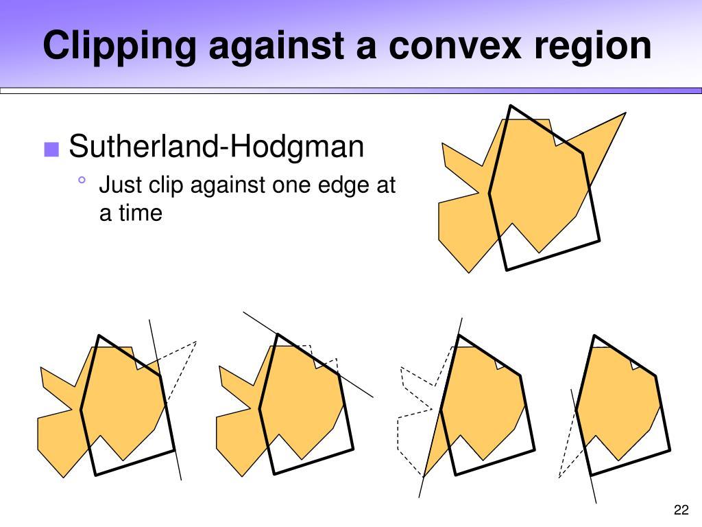 Clipping against a convex region