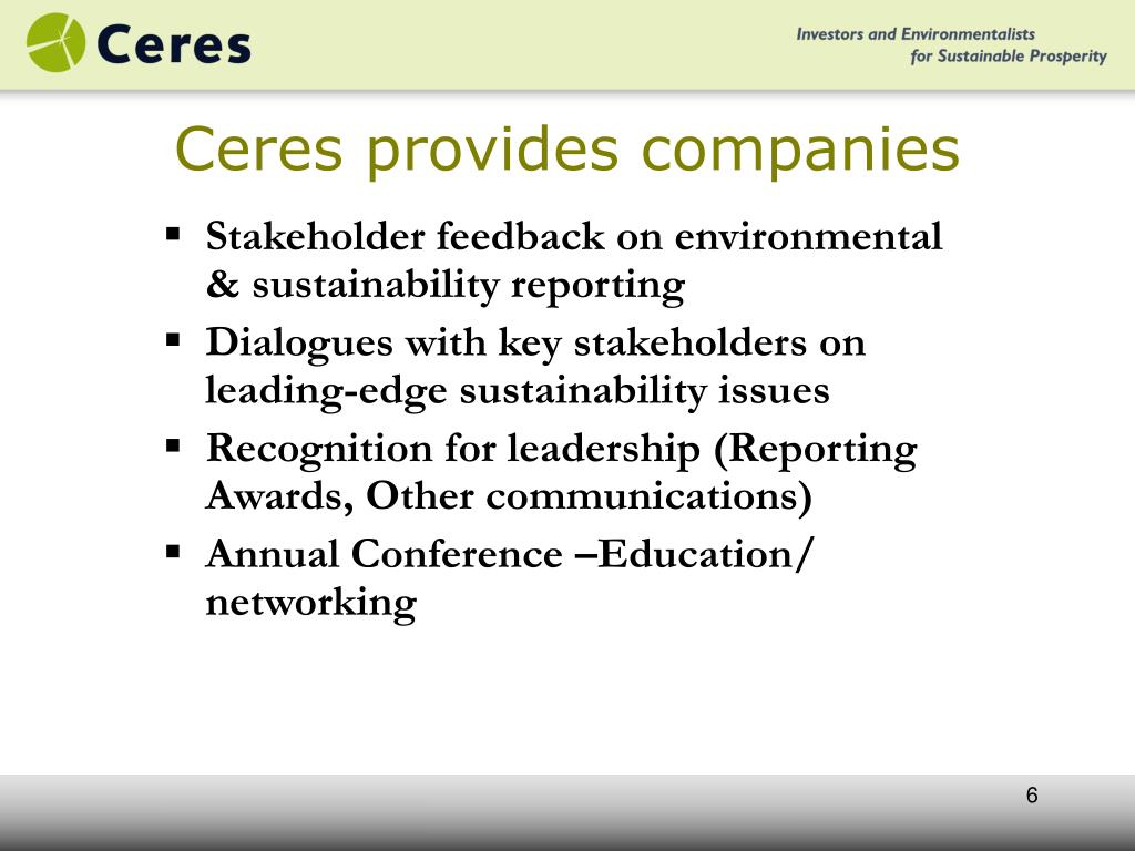 Ceres provides companies