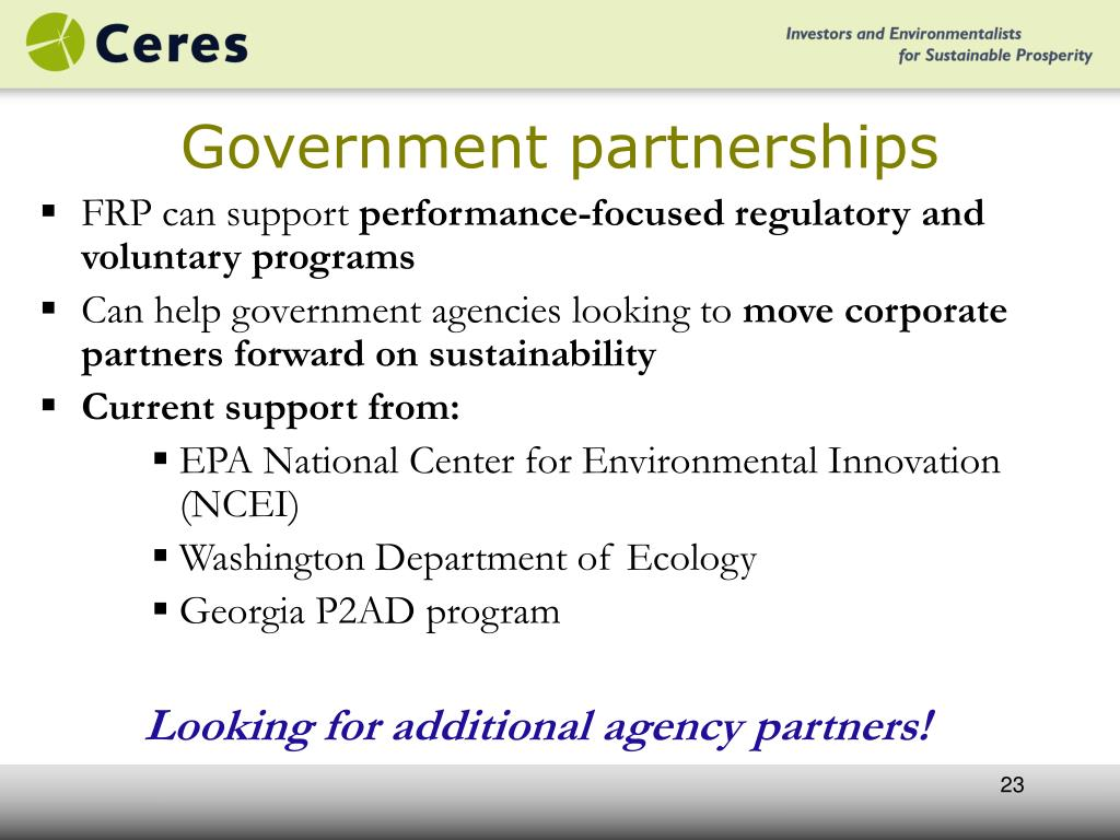 Government partnerships