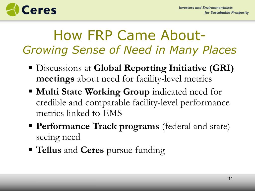 How FRP Came About-
