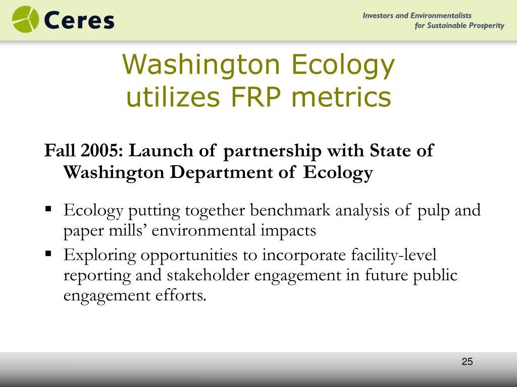 Washington Ecology