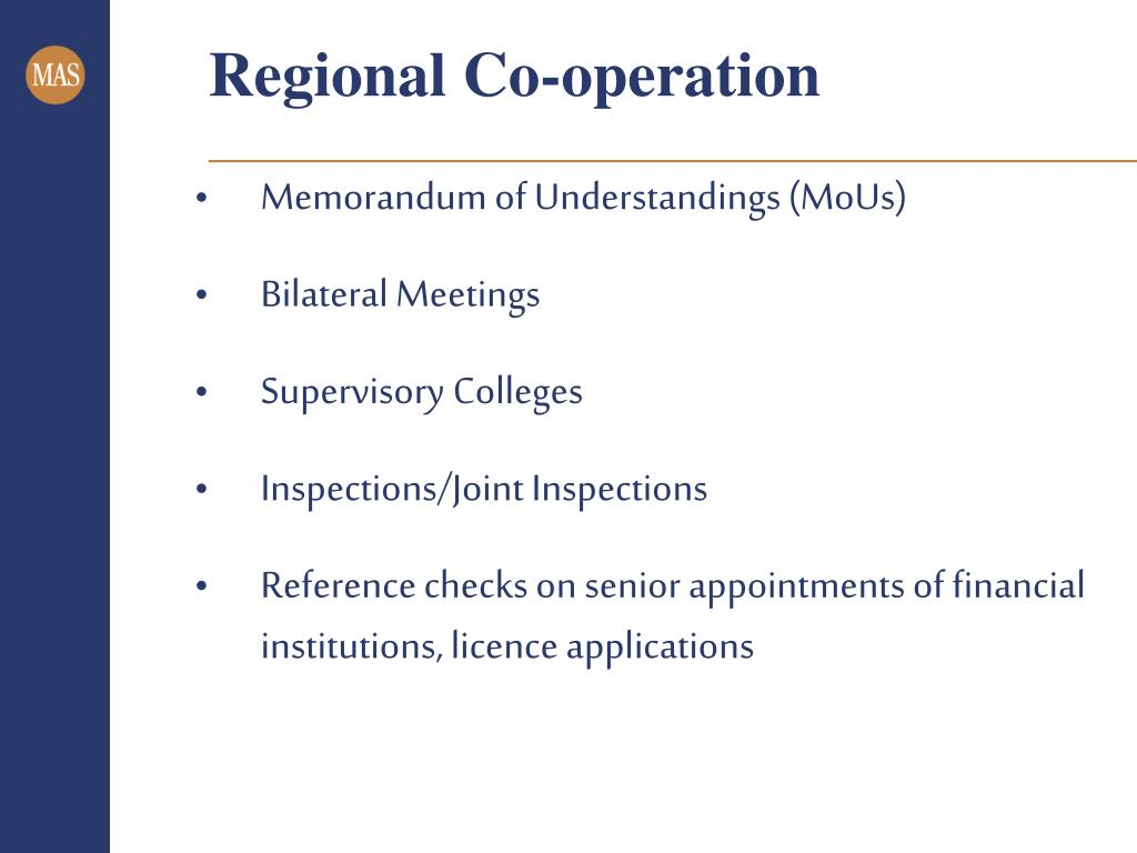 Regional Co-operation