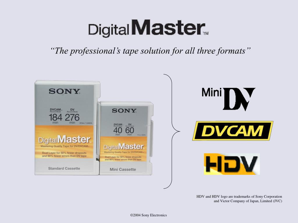 """""""The professional's tape solution for all three formats"""""""