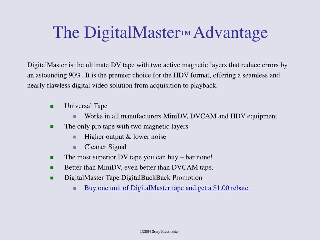 The DigitalMaster