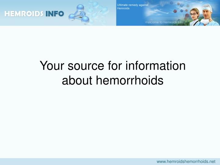 Your source for information about hemorrhoids