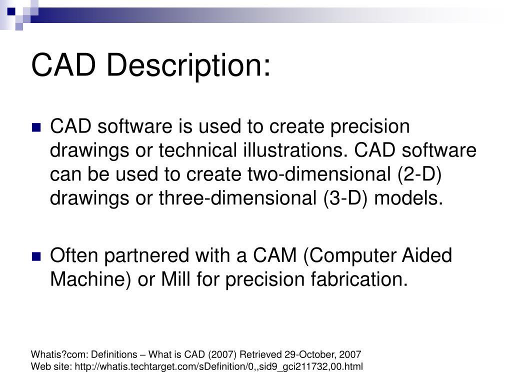 CAD Description: