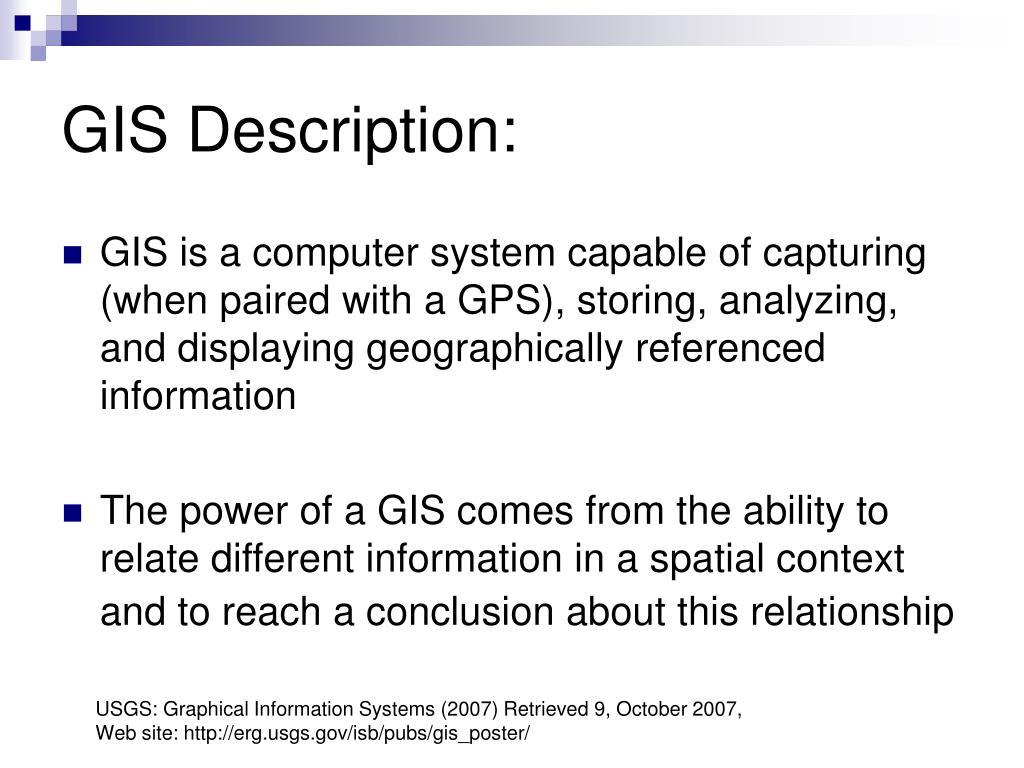 GIS Description: