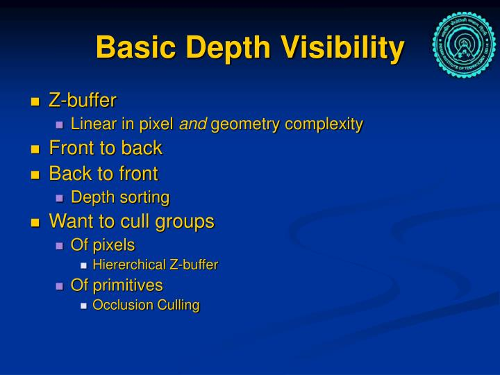 Basic Depth Visibility