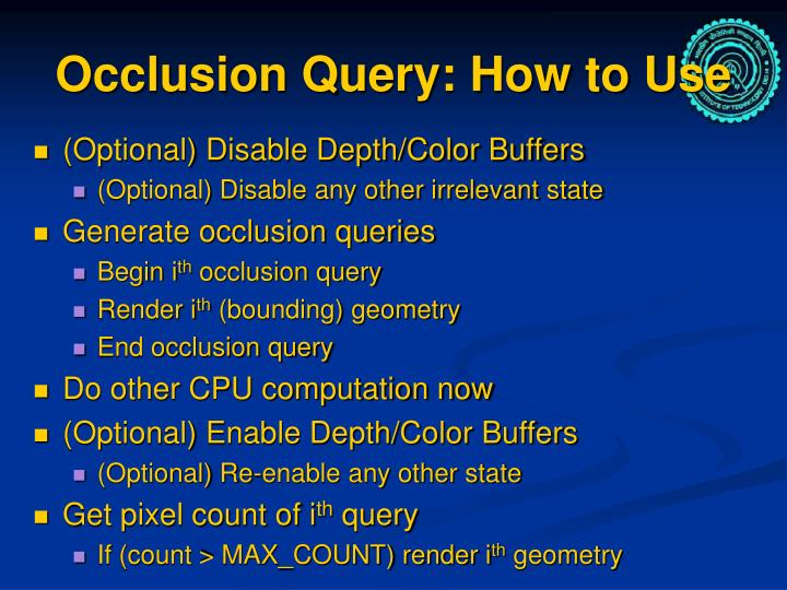 Occlusion Query: How to Use