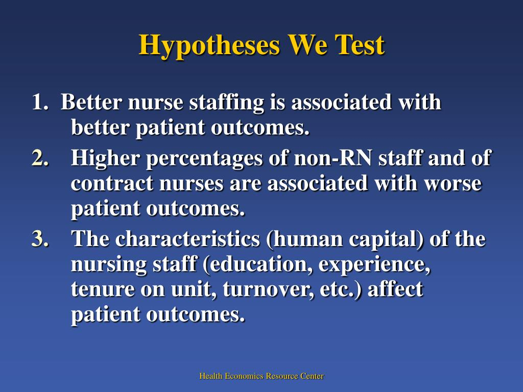 Hypotheses We Test