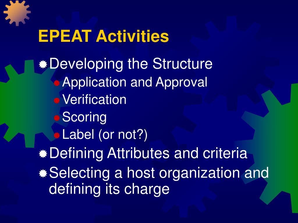 EPEAT Activities