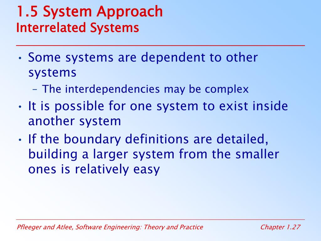1.5 System Approach