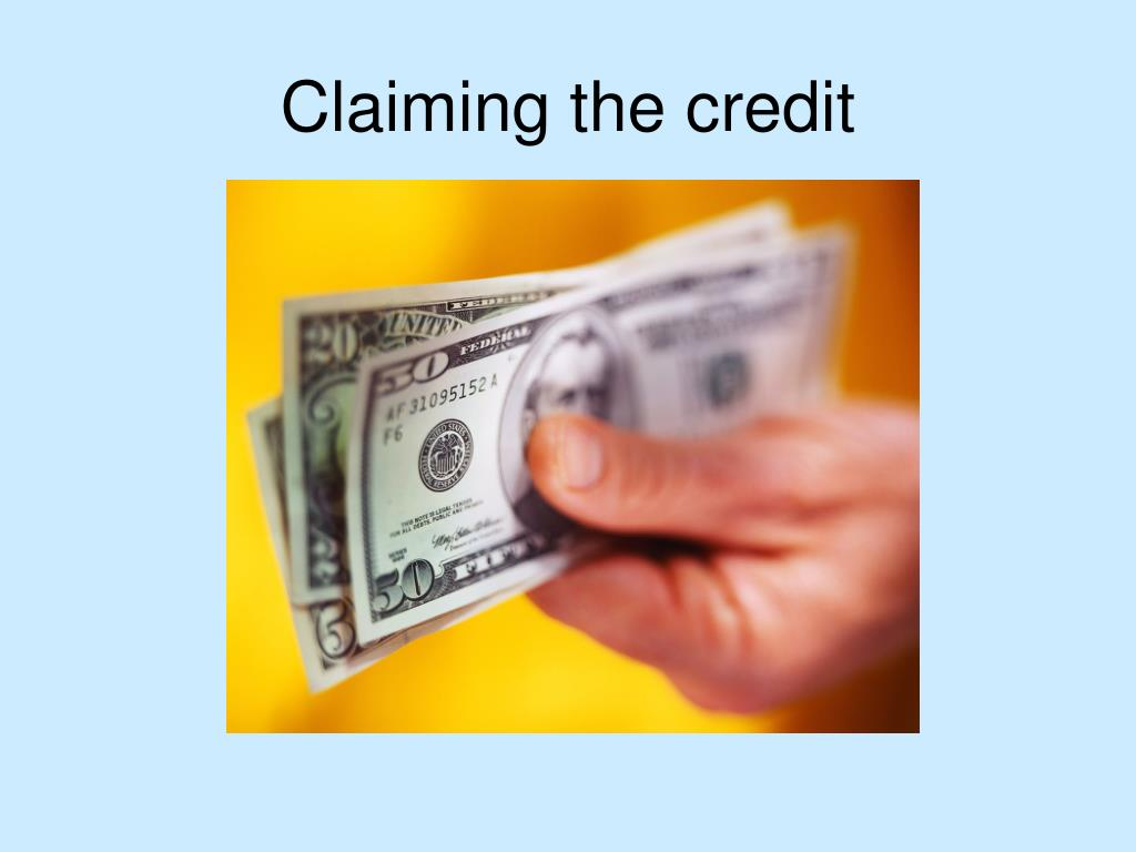 Claiming the credit