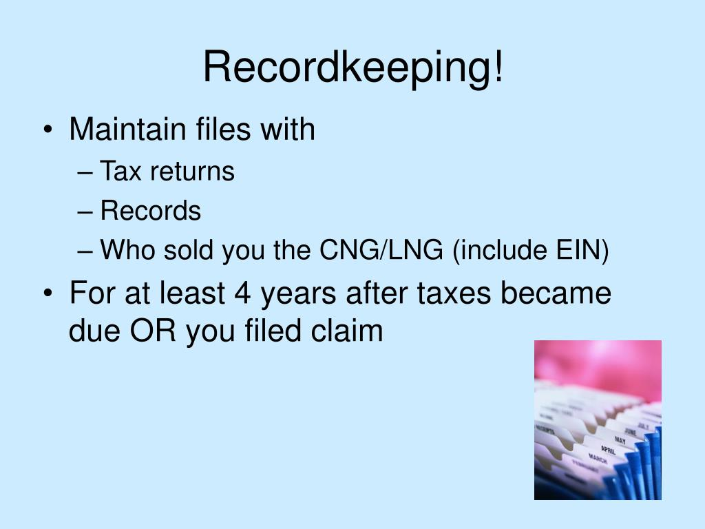 Recordkeeping!