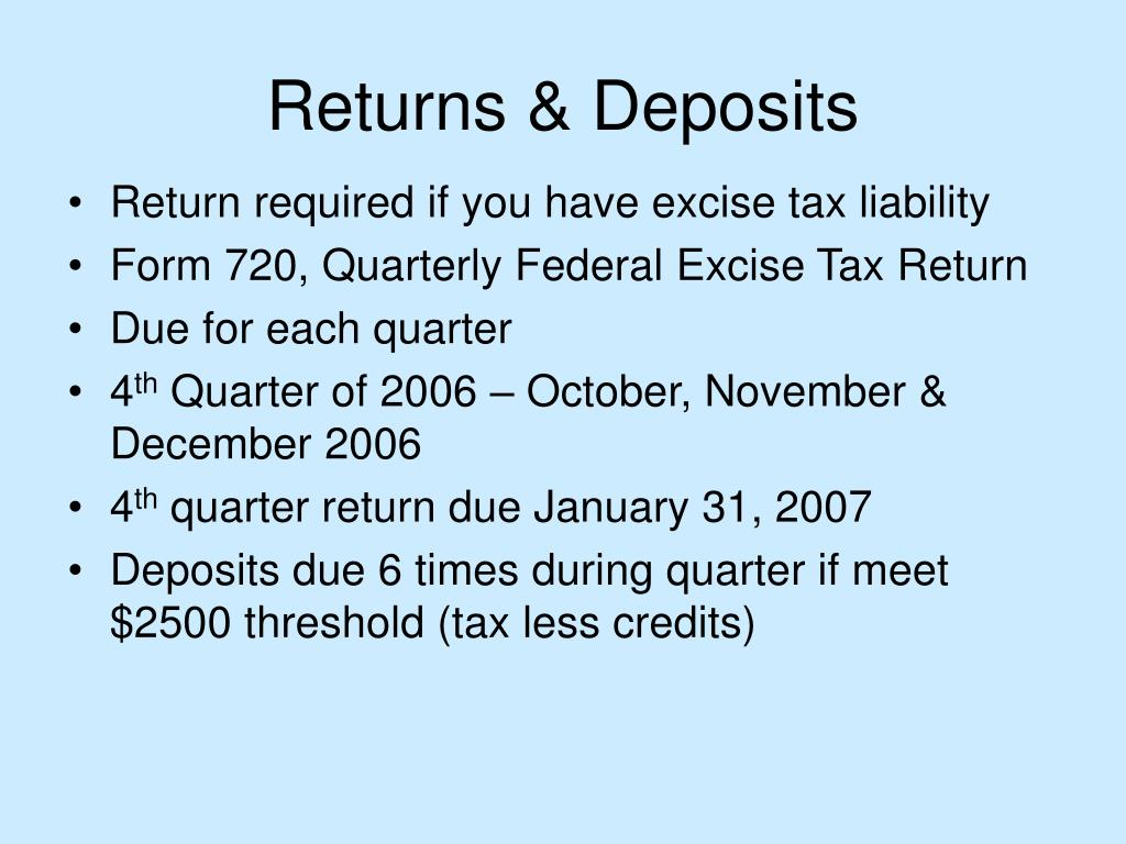 Returns & Deposits