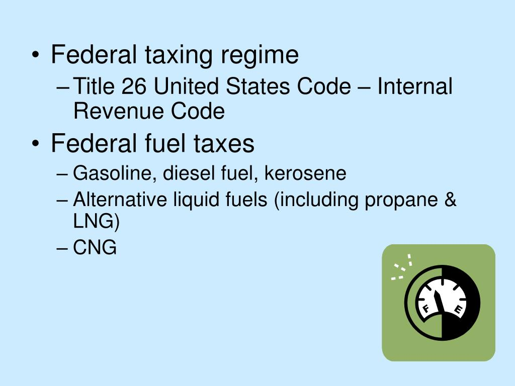 Federal taxing regime
