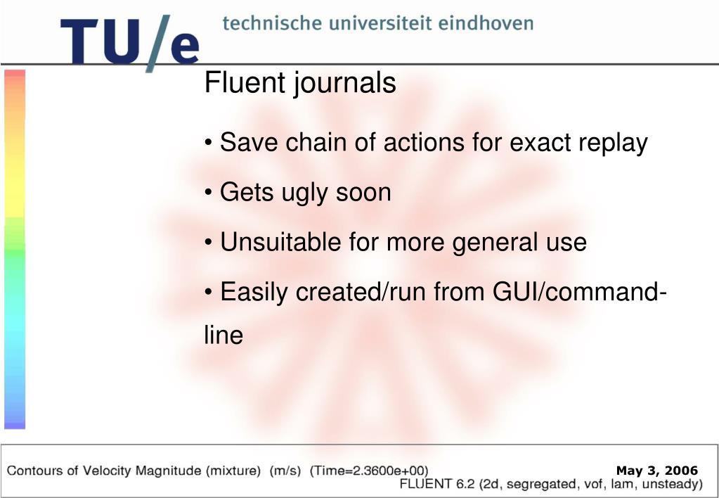 Fluent journals